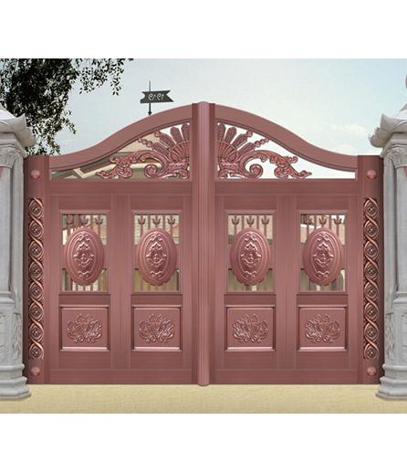 长沙铜门 院庭门制作