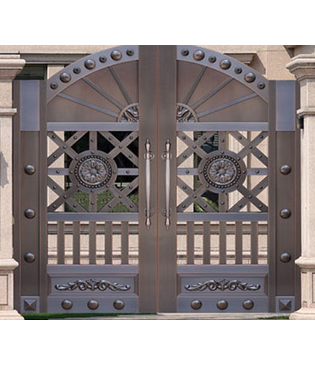 长沙铜门 院庭门设计