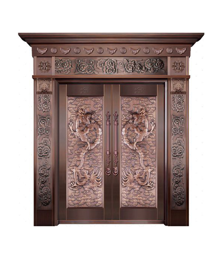 长沙铜门双开门设计