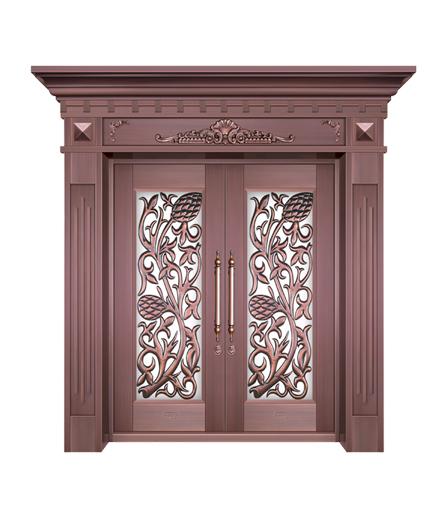 湖南铜门 玻璃门制作