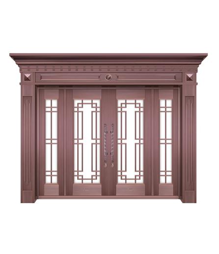 湖南铜门 玻璃门设计