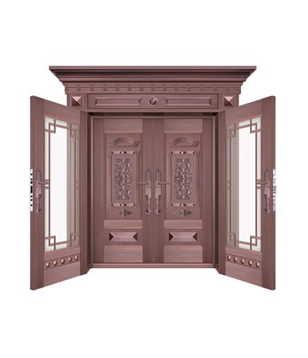 别墅铜门 玻璃门批发