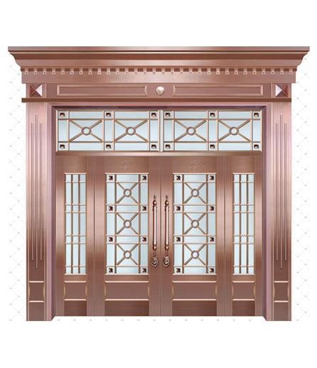 兰州铜门 玻璃门