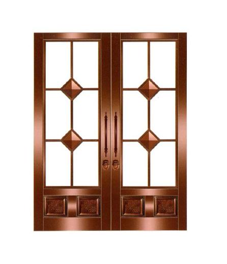 湖南别墅铜窗设计