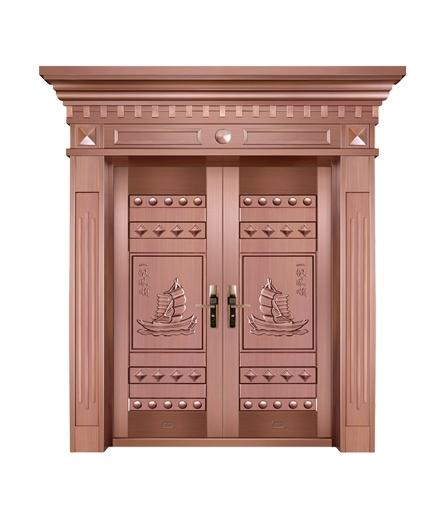 别墅铜门双开门价格