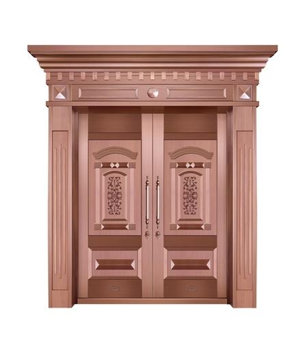 别墅铜门双开门生产