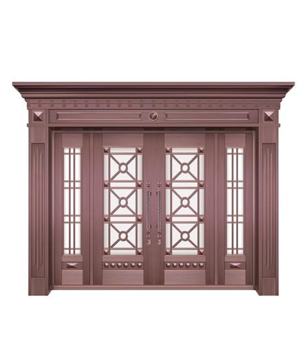别墅铜门 玻璃门设计