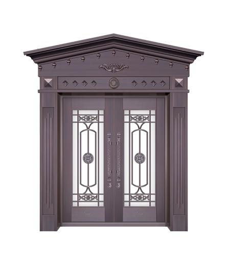 别墅铜门 玻璃门公司