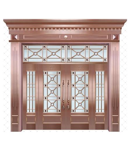 别墅铜门 玻璃门价格