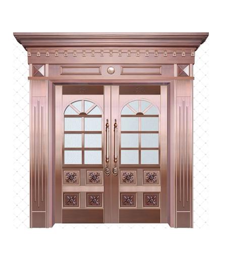 别墅铜门 玻璃门销售