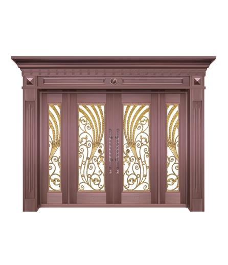 别墅铜门 玻璃门制作