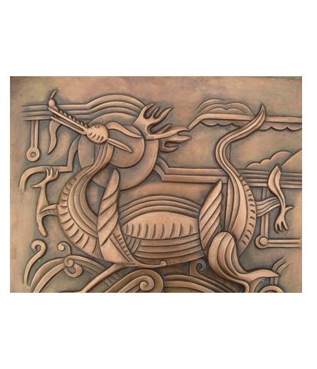 别墅铜门 铜背景生产
